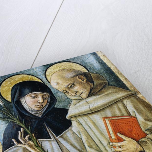 Detail of Saint Bernardino and Saint Catherine of Siena by Carlo Crivelli