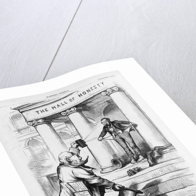 H.G. Diogenes Has Found the Honest Man Political Cartoon for Harper's Weekly by Thomas Nast