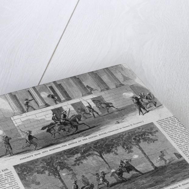 Forrest's Raid into Memphis - The Rebels at the Gayoso House; Escape of General Washburne; Rebel Attack on the Irving Prison by Corbis