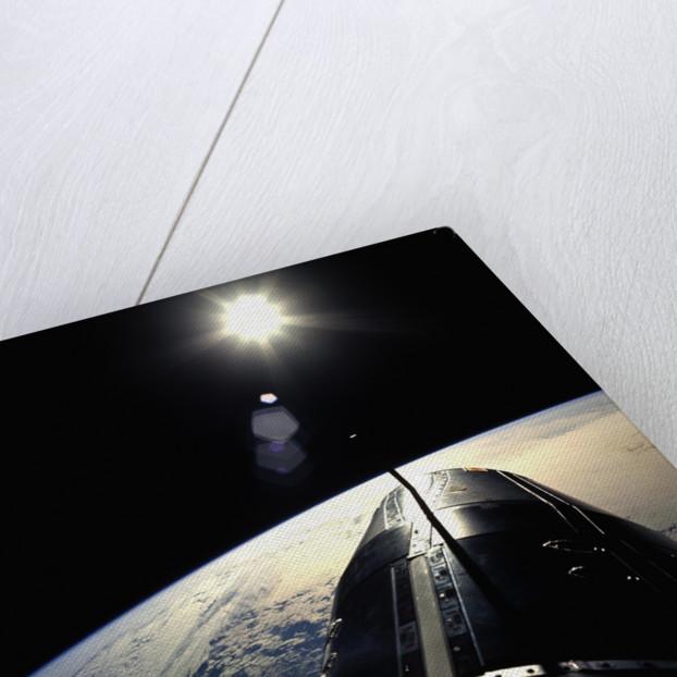 Gemini Spacecraft Orbiting the Earth by Corbis