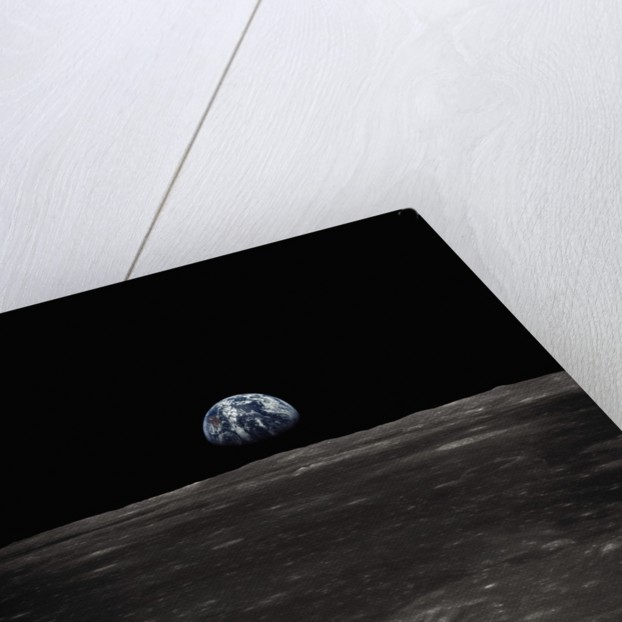Earth Rising Above the Moon by Corbis
