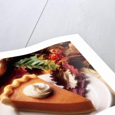 Piece of Pumpkin Pie by Corbis