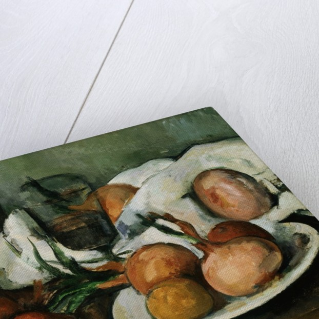 Detail of Still Life with Onions by Paul Cezanne