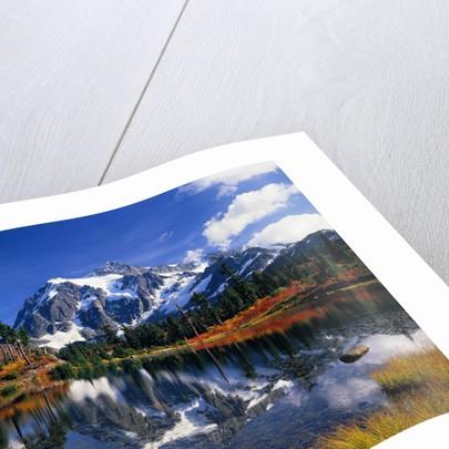 Autumn Foliage Surrounding Picture Lake by Corbis