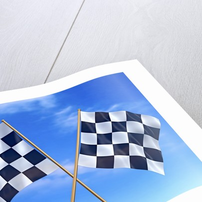 Checkered Flags by Corbis