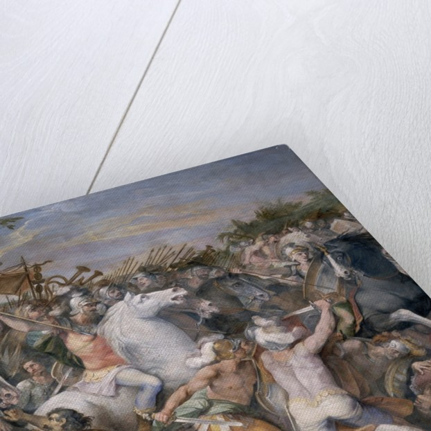 Roman Battle Scene by Giuseppe Cesari