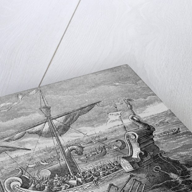 The Battle of Actium by Corbis