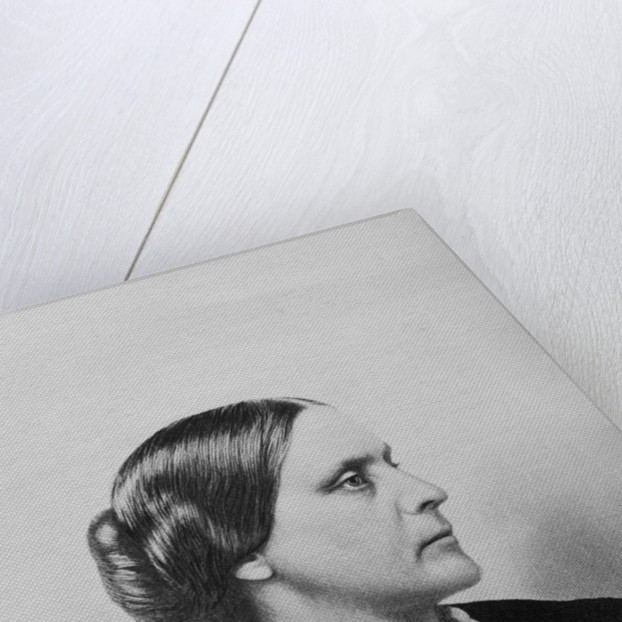 Engraving of Susan B. Anthony by Corbis