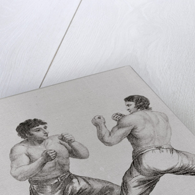 Print of Richard Humphreys and Daniel Mendoza Boxing by Corbis