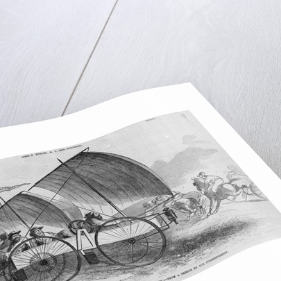 Illustration of Windship Wagon by Corbis