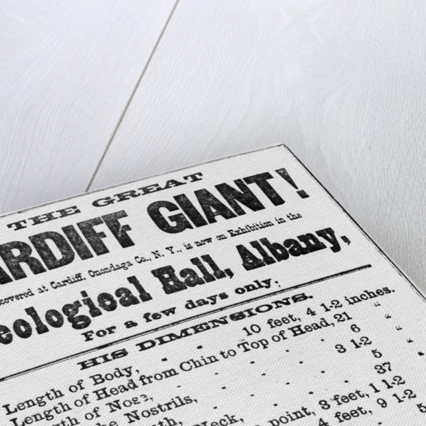 Poster for Cardiff Giant by Corbis