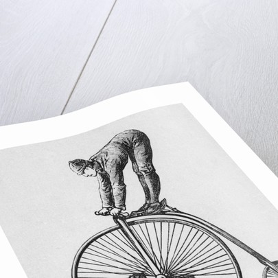 Acrobat Riding Bicycle by Corbis