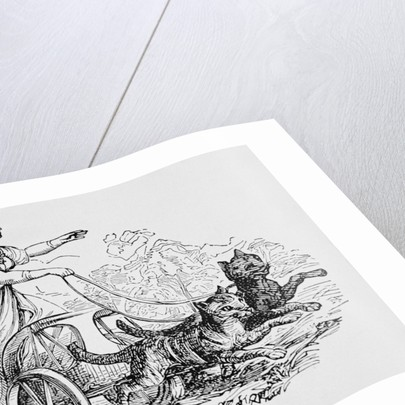 Freya Riding Chariot Driven by Cats by Corbis