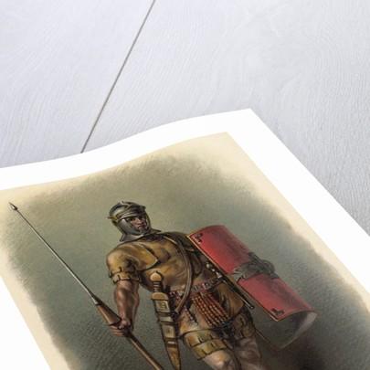 Portrait of Roman Legionnaire by Corbis