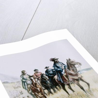 Illustration of Juan Bautista de Anza on Horseback by Corbis
