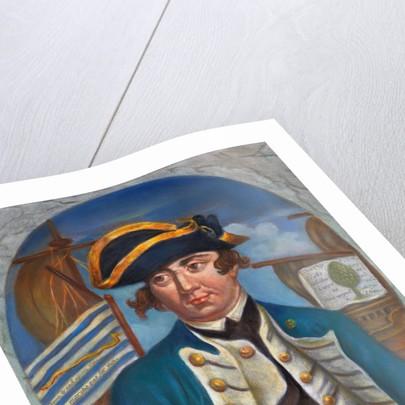 Portrait of First United States Naval Admiral Esek Hopkins by Corbis