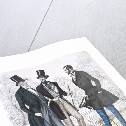 Illustration of Nineteeth Century Men's Fashions by Corbis