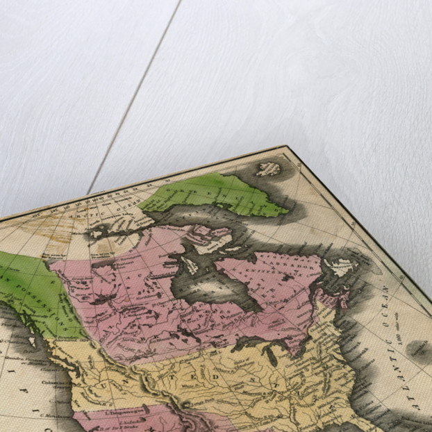 Map of North America by Corbis