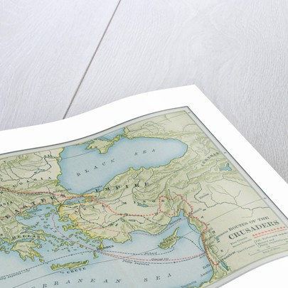 Map Showing Routes During Crusades by Corbis