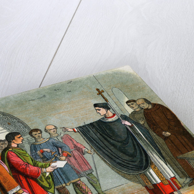 Drawing of Thomas A. Becket Admonishing Earl of Leicester by Corbis
