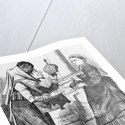 Illustration of Exchange Between Disraeli and Queen Victoria by Corbis