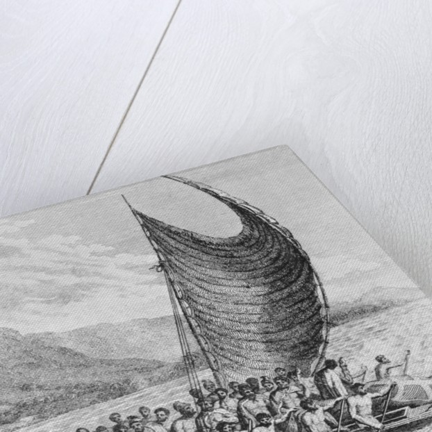 Watercraft Bringing Presents to Captain James Cook by Corbis