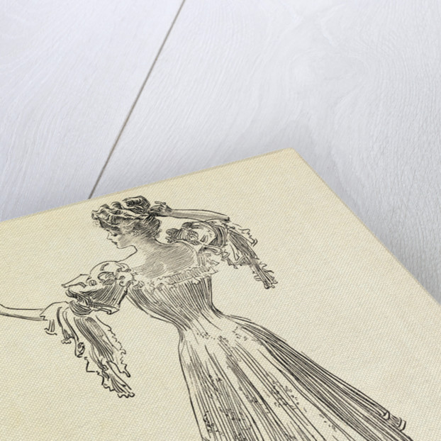 Illustration of Woman Wearing Gown with Corset by Corbis