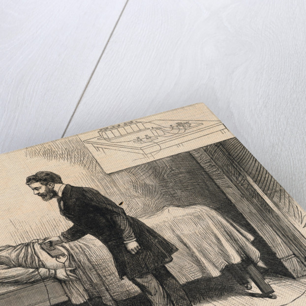 Alexander Graham Bell Trying to Locate Bullet in President Garfield by Corbis