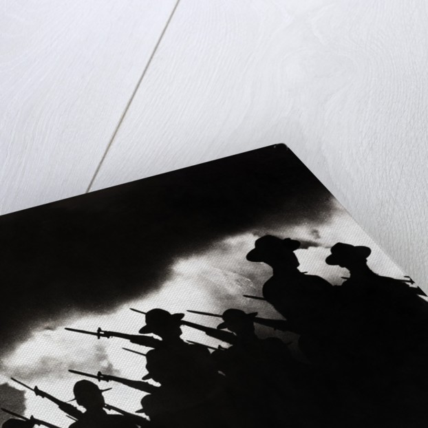Armed Soldiers Marching by Corbis