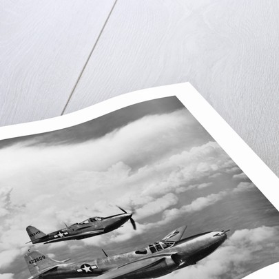 P-57A Jet-Propelled Plane and P-39 Airacobra by Corbis