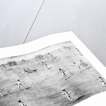 Illustration of Cricket Game by Corbis