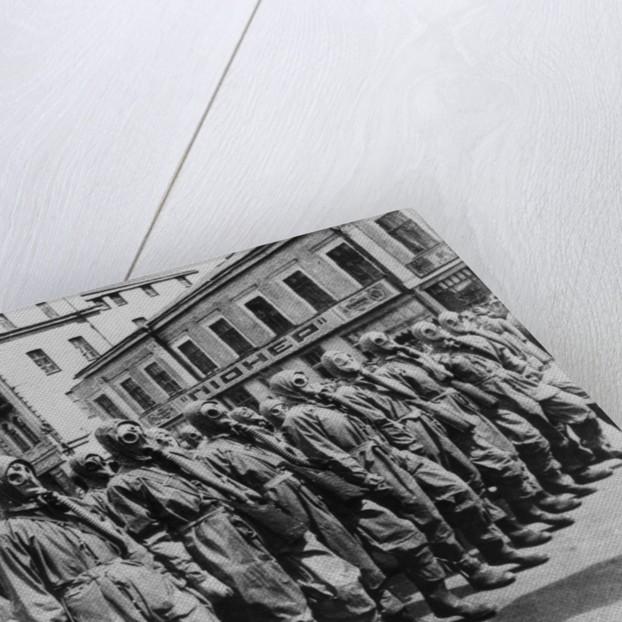 Gas Mask Drill in Kiev by Corbis