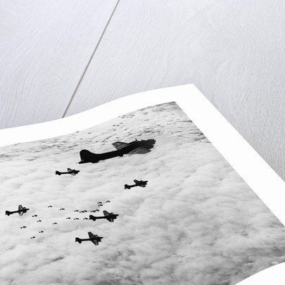 Flying Fortresses in Flight Over Germany by Corbis