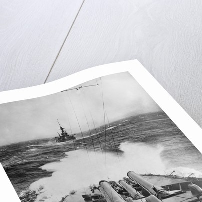 HMS Audacious in a Storm by Corbis