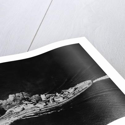 Battleship at Battle of Skagerrak by Corbis