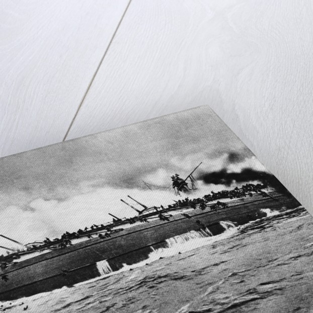Capsize of the 'Blucher' on Dogger Bank by Corbis