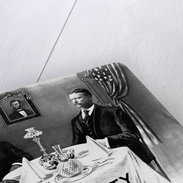 Booker T. Washington Dines With President Roosevelt by Corbis