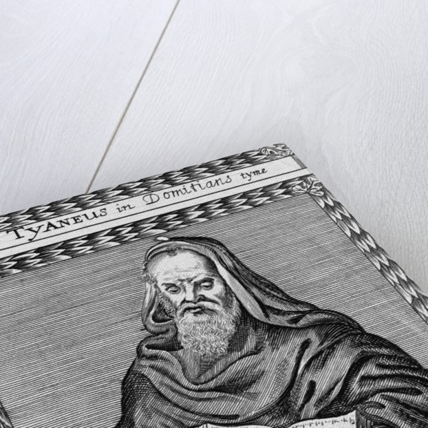 17th-Century Woodcut of Roger Bacon Reading 'Tract de Alchym' by Corbis