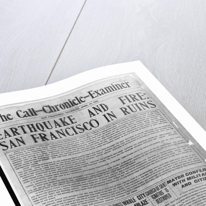 Call-Chronicle-Examiner Reporting San Francisco Earthquake by Corbis