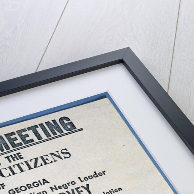 Handbill for Big Mass Meeting by Corbis