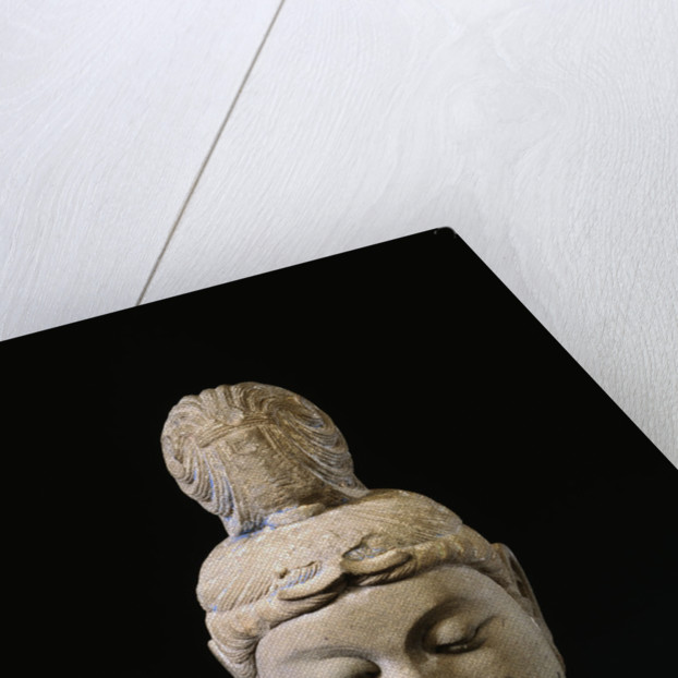 A Gray Stone Head of a Bodhisattva. Tang Dynasty by Corbis