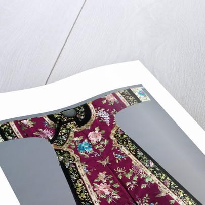 Chinese Purple-Ground Embroidered Silk Robe by Corbis