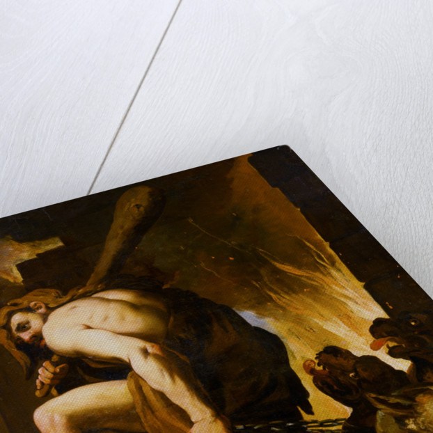 Hercules Dragging Cerberus from Hell Attributed to Domenico Pedrini by Corbis
