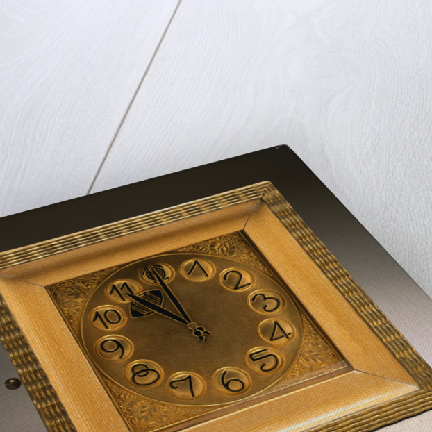 A Gilt-Wood and Metal Clock by Hans Ofner