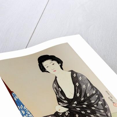 Tsuru Nakatani as a Young Beauty in a Gauze Robe by Goyo