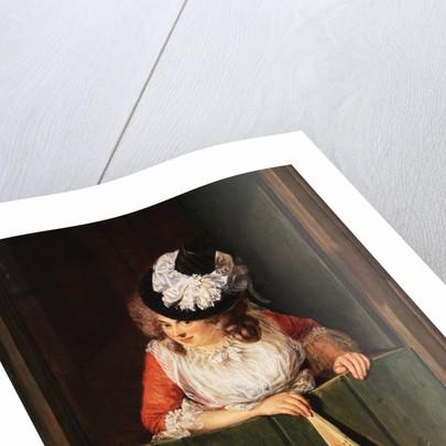A Lady with a Fan by Jean Baptiste Bernard Coclers
