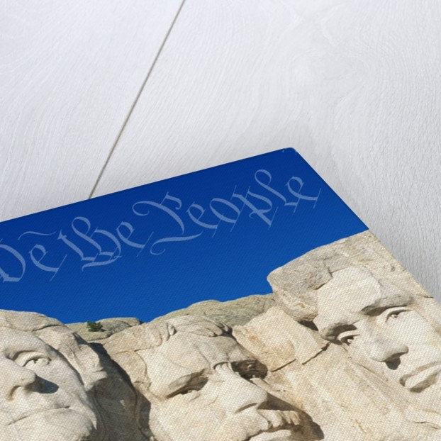 We the People Above Mount Rushmore by Corbis