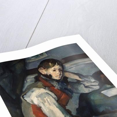Boy in a Red Waistcoat by Paul Cezanne