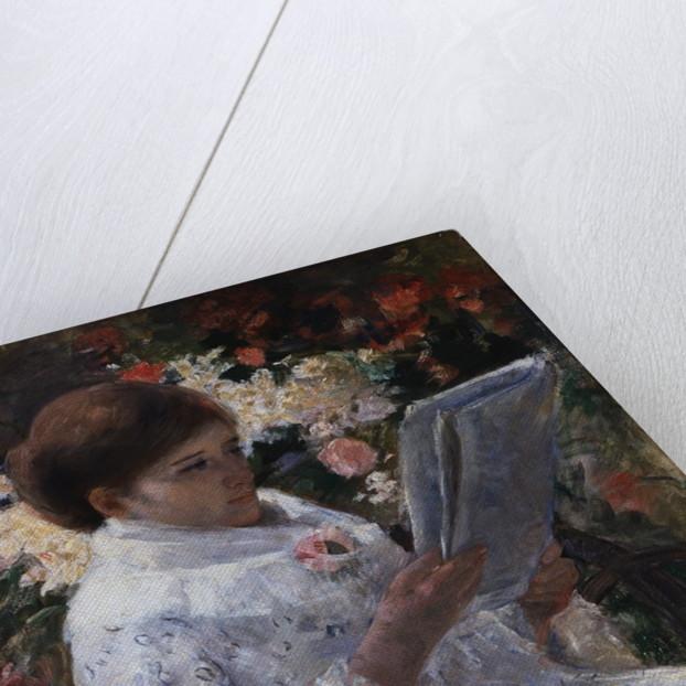 Woman Reading in a Garden by Mary Cassatt
