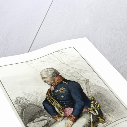G.L. von Blucher: Field Marshal of the Prussian Forces Engraving by Corbis